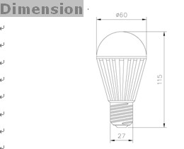 SMD E27 LED Bulbs