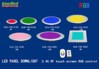 China Indoor RGB Flush Mount LED Ceiling Panel Lights with 2.4G RF Touch Screen Controller distributor