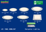 Best 10W Emergency Round LED Ceiling Panel Light / Downlight For Hospital , School for sale